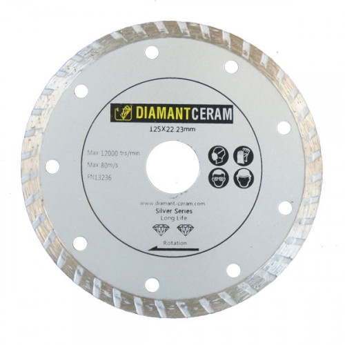 Disque diamant jante Turbo 125mm - Silver