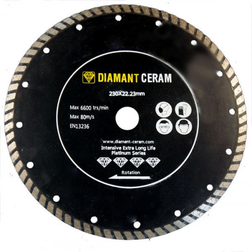 Disque diamant jante Turbo 230mm - Platinum
