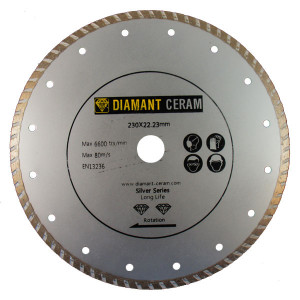 Disque diamant jante Turbo 230mm - Silver