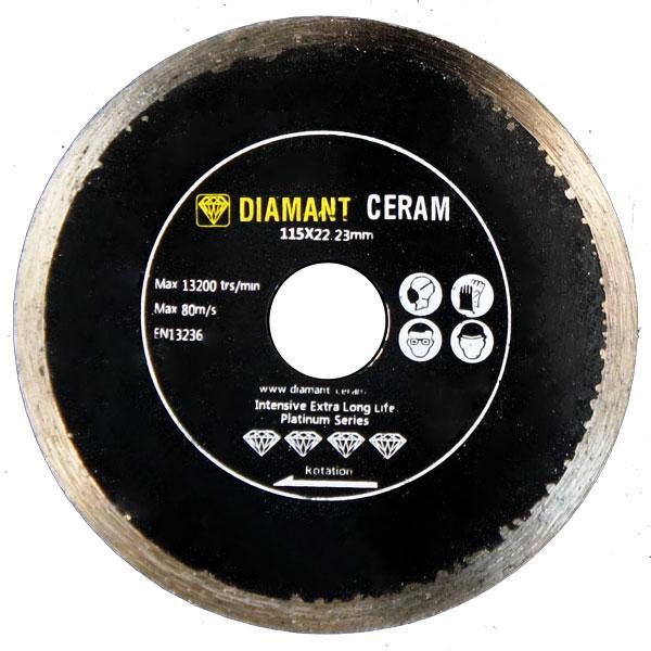 Disque diamant jante continue 115mm - Platinum
