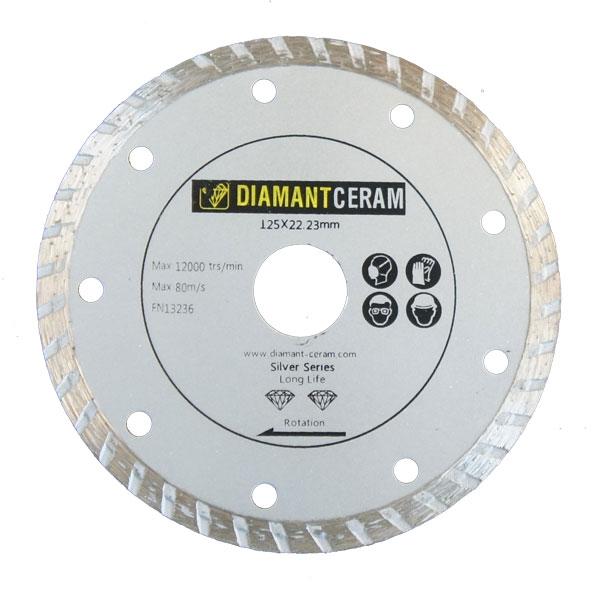 Disque diamant jante Turbo 125mm - Silver