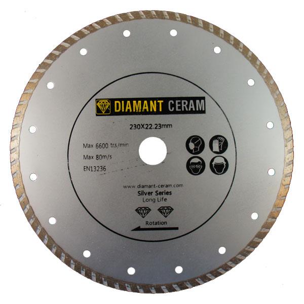 Disque diamant jante Turbo 230mm - Silver