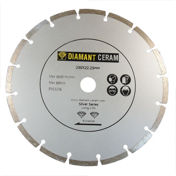 Disque diamant universel segmenté 230mm - Silver