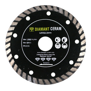 Disque diamant jante Turbo 125mm - Platinum