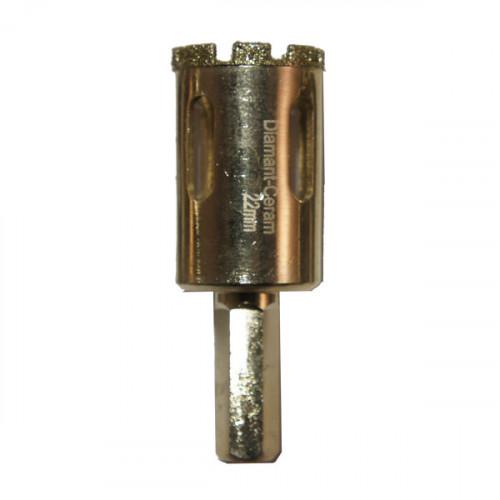 Foret trépan diamant céramique diamètre 22 mm
