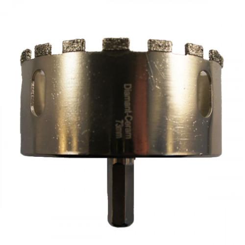 Trépan diamant céramique - diamètre 73 mm